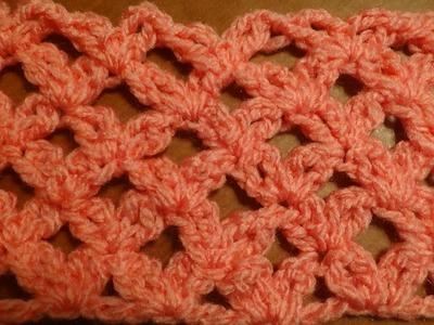Puntada a crochet,  rápida y divertida. Muestra No. 52