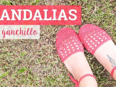 Sandalias de ganchillo fáciles   Crochet sandals