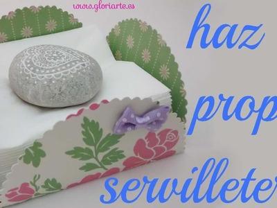 Servilletero de papel DIY. DIY paper napkin.