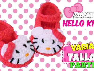 Zapatitos de Hello Kitty tejidos a crochet | parte 2.2