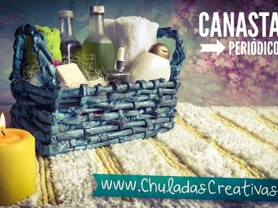 Canasta de Periódico :: Chuladas Creativas : Basket DIY