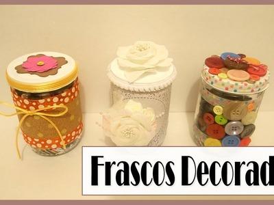 Frascos Decorados ¡Ideas fáciles de Reciclaje! | Luisa PaperCrafts