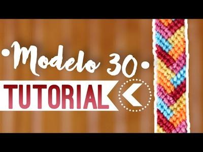 Modelo 30. ♥︎ Pulseras de macramé | DIY | Paso a paso