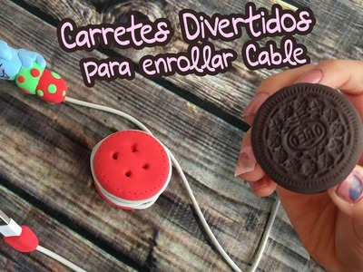 Carrete para enrollar cable de celular (Movil DIY) Foamy Moleable (Goma Eva)