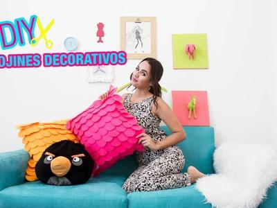 DIY  COJINES DECORATIVOS FACILES DE HACER !!