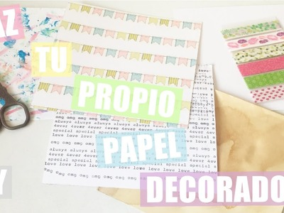 DIY Haz tu propio papel decorado para scrapbooking | Laila color