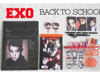 DIY K-POP : EXO Decora tus útiles escolares ver. Monster. EXO School Supplies  Monster Ver.