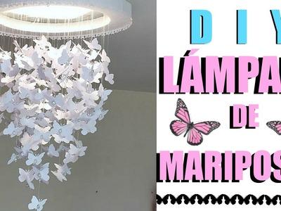 DIY LAMPARA DE MARIPOSAS. DIY BUTTERFLY CHANDELIER