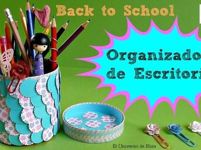 DIY Vuelta a Clases, Organizador de Escritorio Reciclado, Regreso a clases
