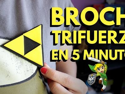 Manualidades con Foamy: Cómo hacer un broche trifuerza (Zelda)