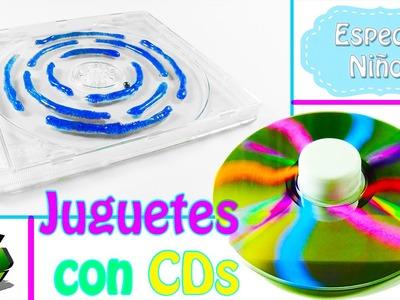222. Manualidades para niños: Juguetes con cds (Reciclaje) Ecobrisa