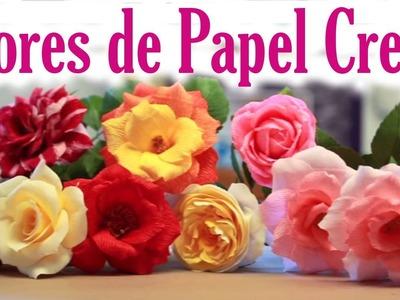 Cómo hacer flores de papel crepe faciles - Manualidades de Lina