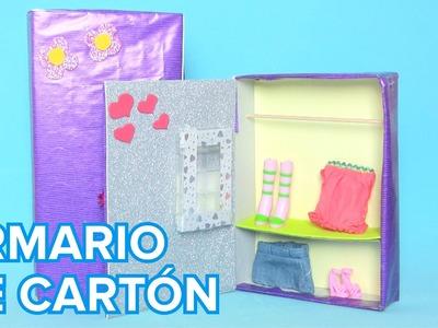 Cómo hacer un armario de cartón para muñecas | Manualidades infantiles