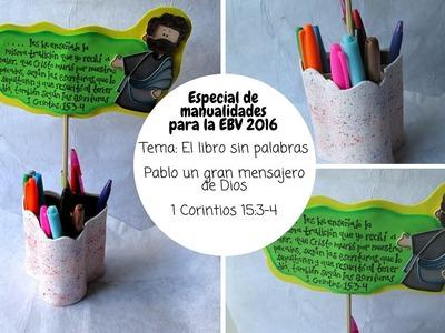 Especial de manualidades para la EBV 2016. El libro sin palabras. 1 Corintios 15:3-4