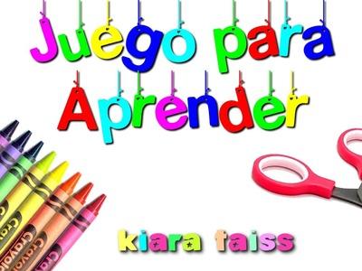 Juego para aprender; Formas, Abecedario, Números, Vocales: Manualidades para niños