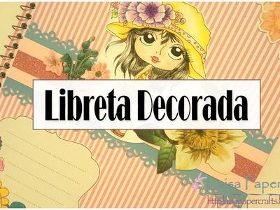 "Libreta decorada paso a paso ""Tutorial Regreso a Clases"" | Luisa PaperCrafts"