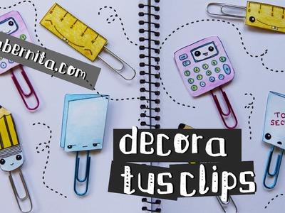 Cómo DECORAR CLIPS. Manualidades kawaii para el regreso a clases (Nica Bernita)