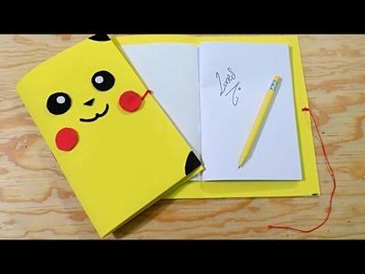 DIY Haz tu propia Libreta.Agenda de PIKACHU -Pokemon Go Manualidades Pokebola (Encuadernado Basico)