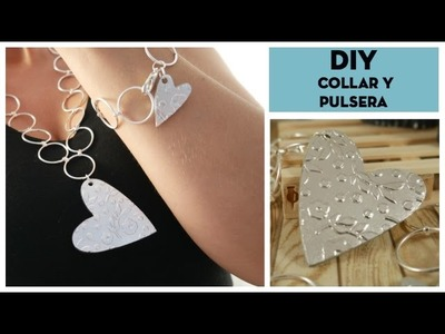 DIY Collar y pulsera con textura usando Big Shot