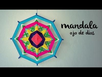 MANDALA TEJIDO | Ojo de Dios (ENGLISH SUB) | tutorial paso a paso AHUYAMA CROCHET