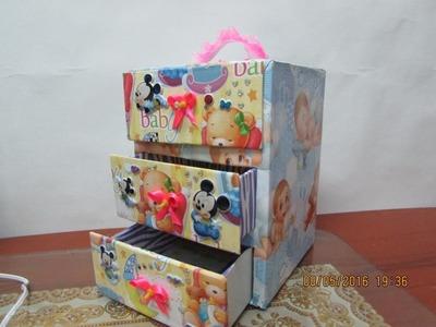 DIY- mini comoda de carton para bebe