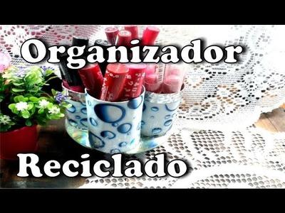 DIY : Organizador reciclando rollos de carton y CDs