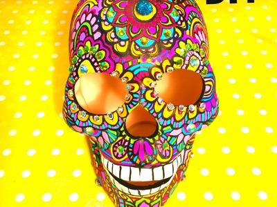 DIY Pinta Ceramica calavera esqueleto mándala Dia de muertos painted ceramic skeleton with mandalas