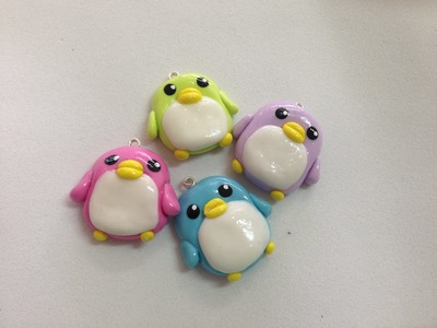 Tutorial Pingüino Kawaii - Porcelana Fria. Kawaii Penguin Charm Tutorial - Cold Porcelain