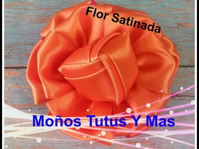 Como hacer FLOR SATINADA Paso a Paso SATIN KANZASHI FLOWER Tutorial DIY How To PAP