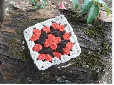 Cómo hacer un cuadrado a Crochet. El Patrón más fácil