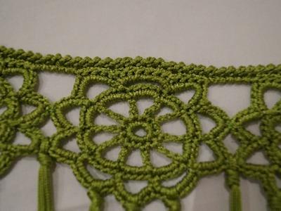 Como hacer un manton de crochet, unir rosetas