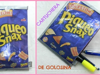 DIY cartuchera de SNACKS