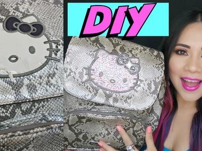 DIY: Renueva o Decora tu bolso.Mochila FÁCIL Y RÁPIDO  Hello Kitty por Fantasticazul