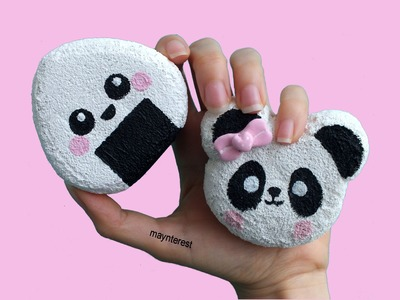 DIY SQUISHY - Onigiri y Panda kawaii