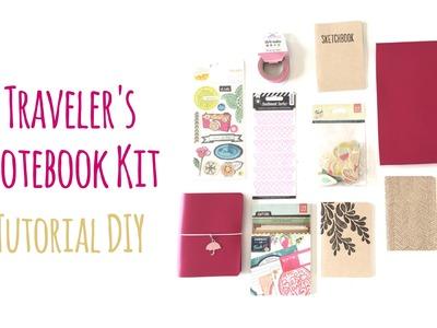 Kit Traveler's Notebook (tamaño Pasaporte) - Tutorial paso a paso - DIY