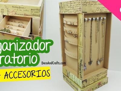 Organizador Giratorio de Cartón para Accesorios y Joyas - DecoAndCrafts