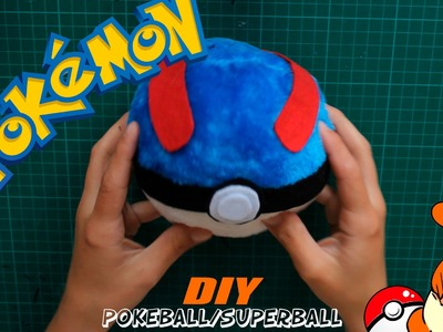 [TUTORIAL] COMO HACER POKEBALL.SUPERBALL DE PELUCHE - Pokémon - DIY