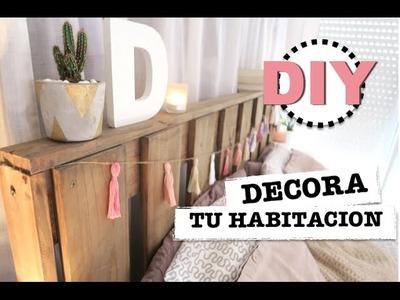 DIY | COMO HACER DECORACION HABITACION | COMO HACER BORLAS | CONSEJOS Y IDEAS ♡ STEFFIDO