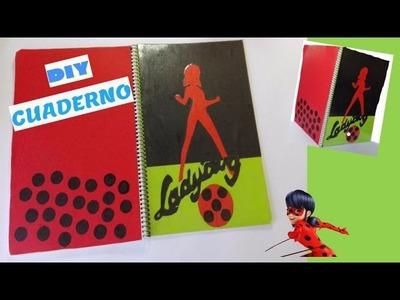 DIY cuaderno vuelta al Cole LADYBUG-MIRACULOUS