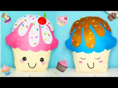 IDEAS DIY ROOM DECOR - COJINES KAWAII EN FORMA DE CUPCAKES - Isa ❤️