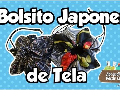 Bolsito Japones de Tela en forma de Flor DIY Costura