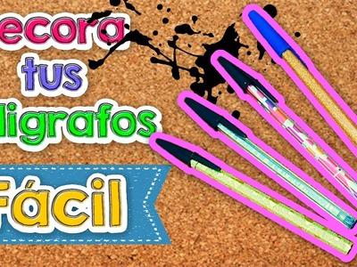 DIY | 4 Ideas para decorar tus Bolígrafos | Fácil | PumitaNegraArt