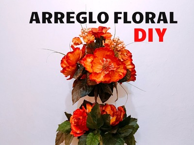 DIY centro de mesa Flores artificiales altos flower arrangement artificial flowers
