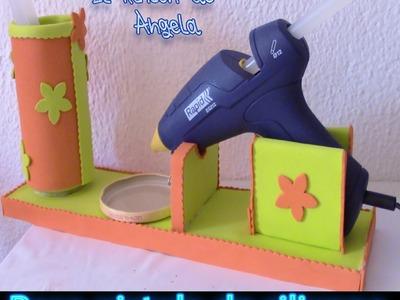 DIY Como hacer una base para la pistola de silicona