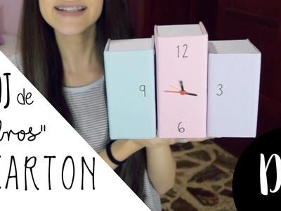 "DIY Reloj de ""libros"" con Carton"