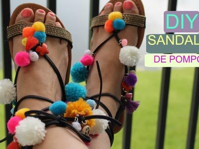 DIY | Sandalias de Pompones | hazlo tu Misma | by Angie Gomez