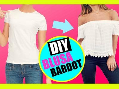 DIY blusa bardot