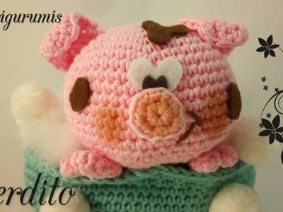 DIY Cerdito con bañera  amigurumi en ganchillo - Crochet