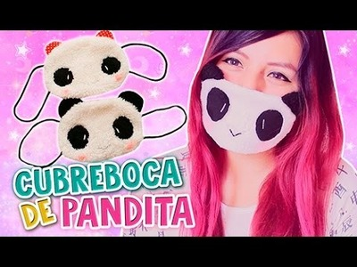 DIY KAWAII ☆ CUBREBOCA DE PANDA (FÁCIL) ☆ FACE MASK PANDA PLUSH l Fabbi Lee