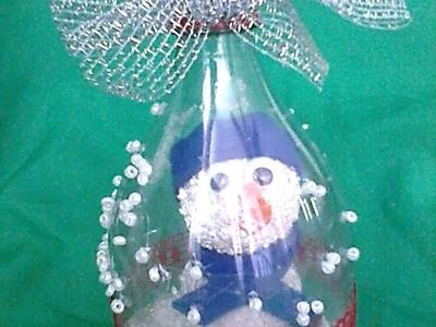 Adornos navideños con botellas de plástico. DIY. Christmas decorations from plastic bottles